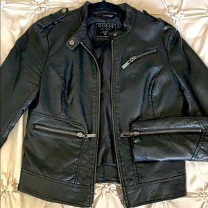 GUESS Faux Leather Women's MOTO Jacket (S)